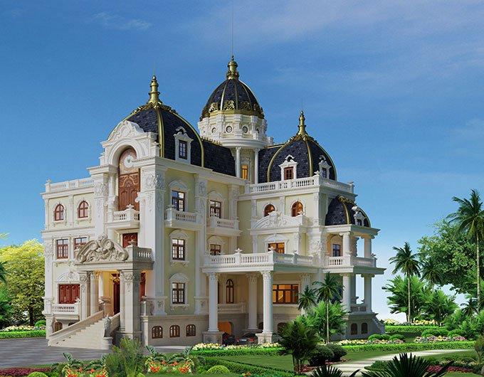 biệt thự lâu đài 4 tầng 360m2 2