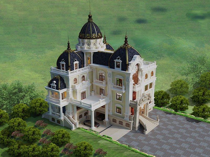 biệt thự lâu đài 4 tầng 360m2 3