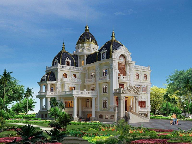 biệt thự lâu đài 4 tầng 360m2 4