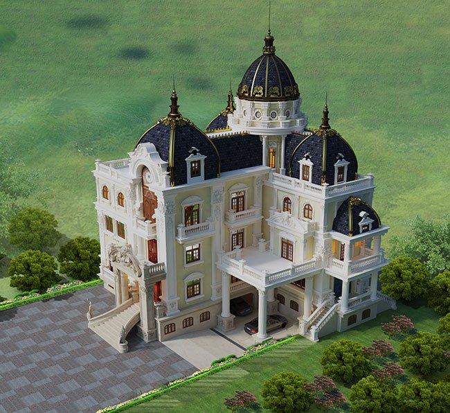 biệt thự lâu đài 4 tầng 360m2 5