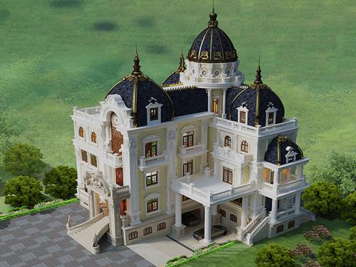biệt thự lâu đài 4 tầng 360m2 đẹp