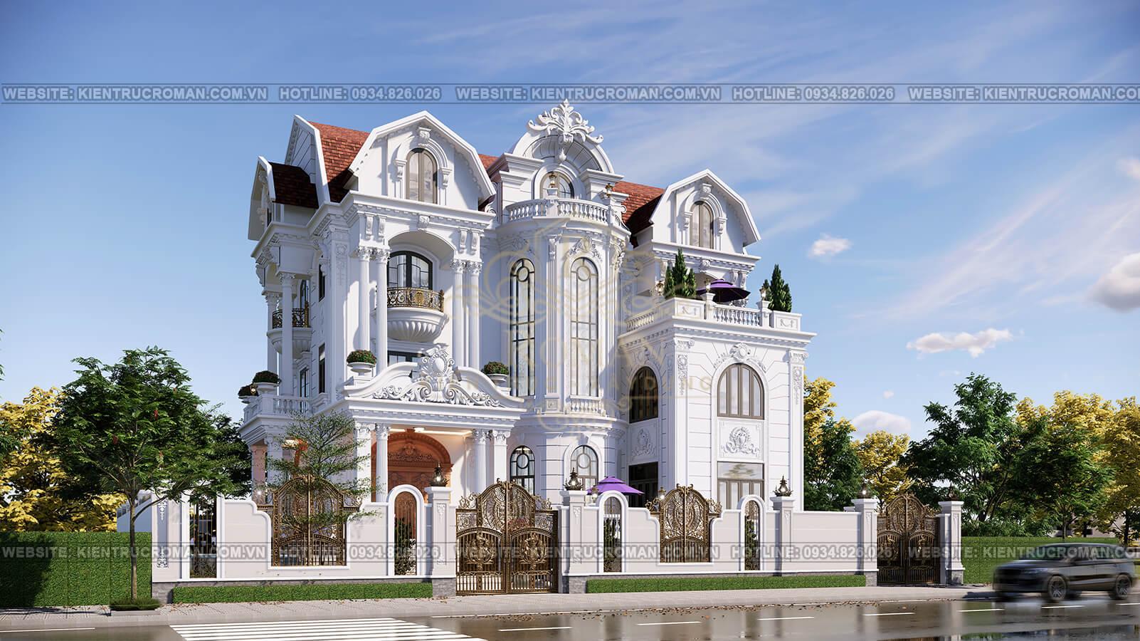 biệt thự lâu đài cổ điển phối cảnh
