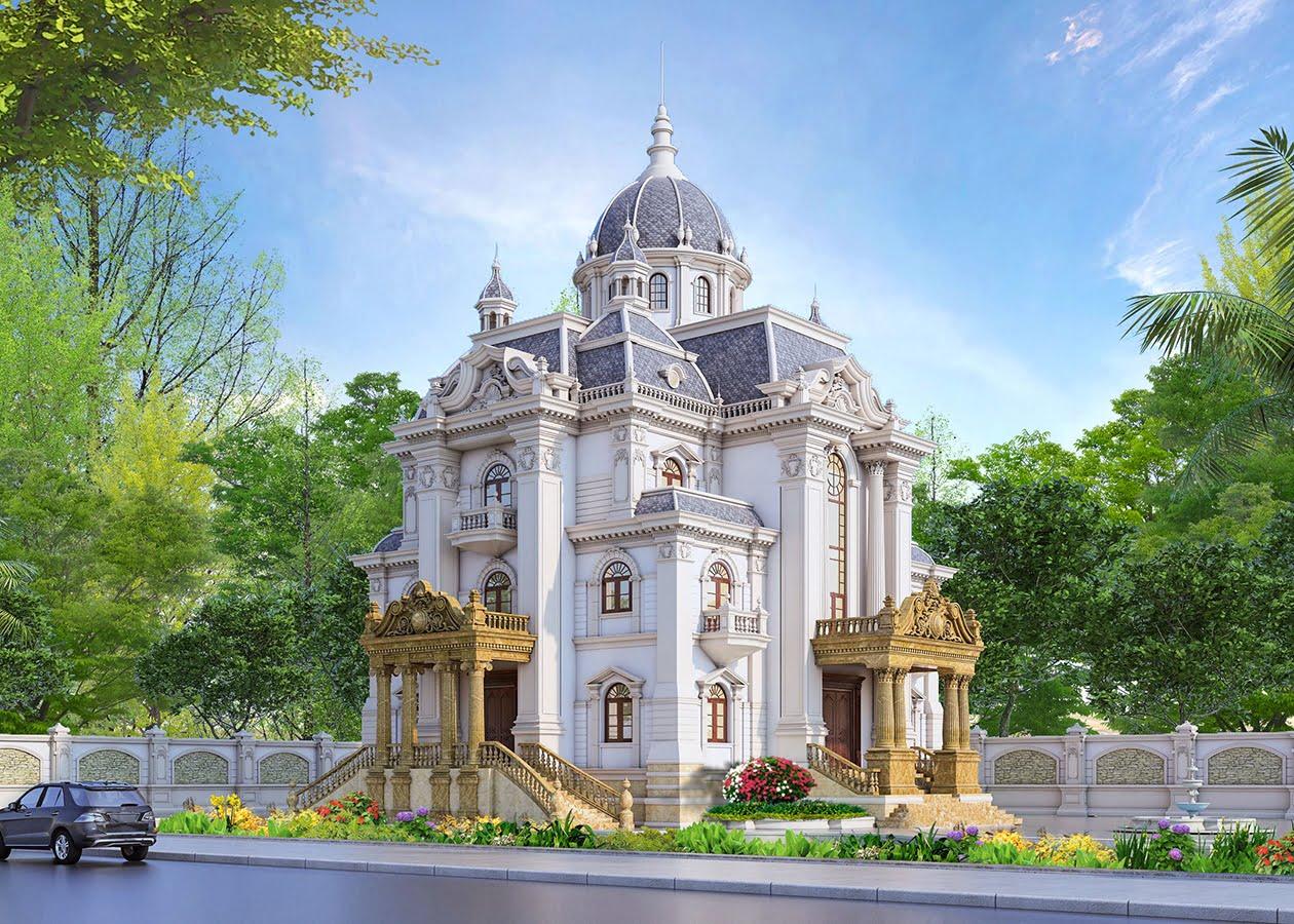 biệt thự lâu đài cổ điển 1000m2 ngoại thất