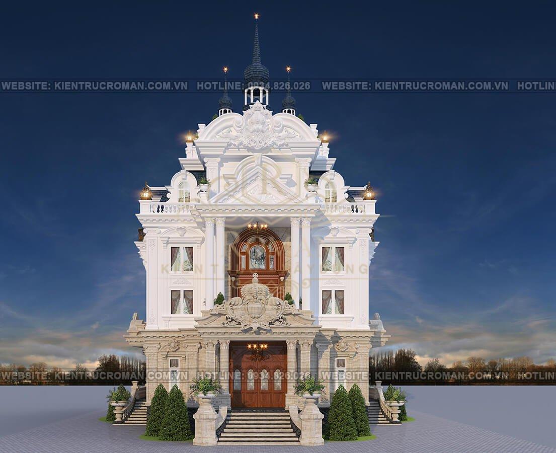 biệt thự lâu đài tân cổ điển phối cảnh