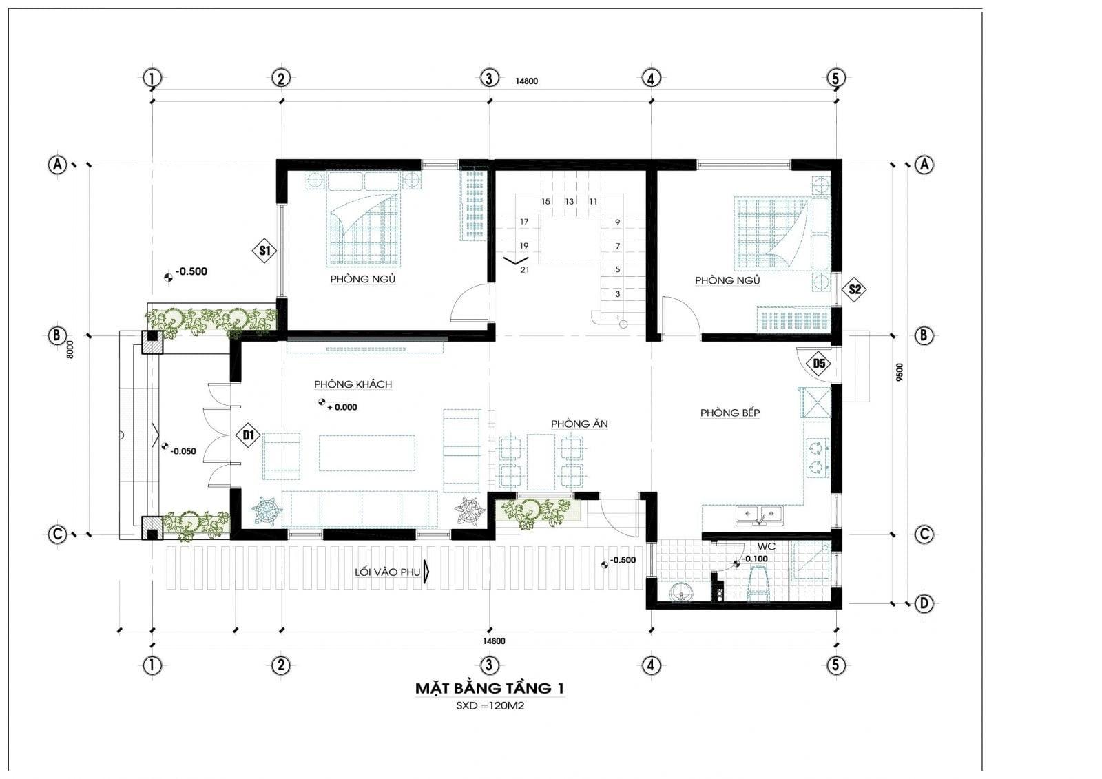 Thiết kế biệt thự mặt tiền 12m 3 tầng 4