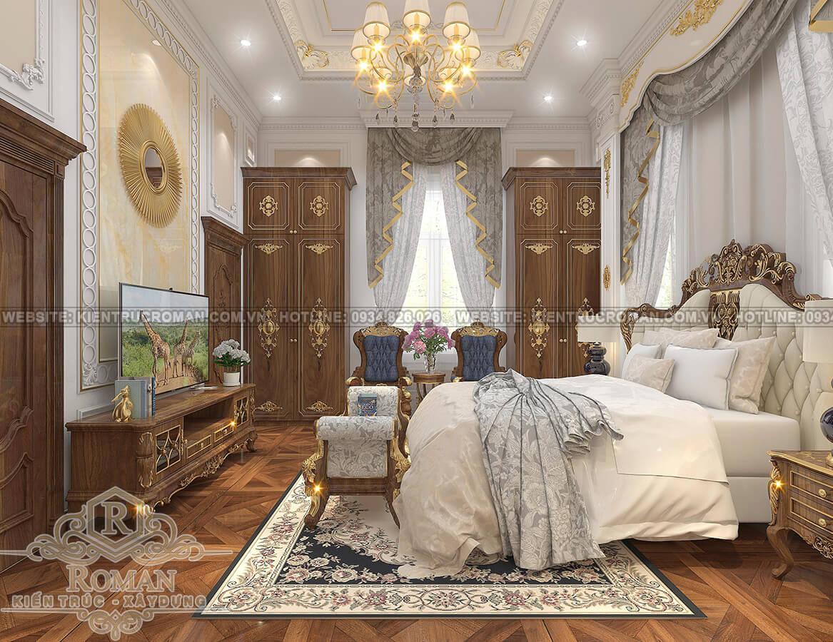 biệt thự mặt tiền 13m phòng ngủ master
