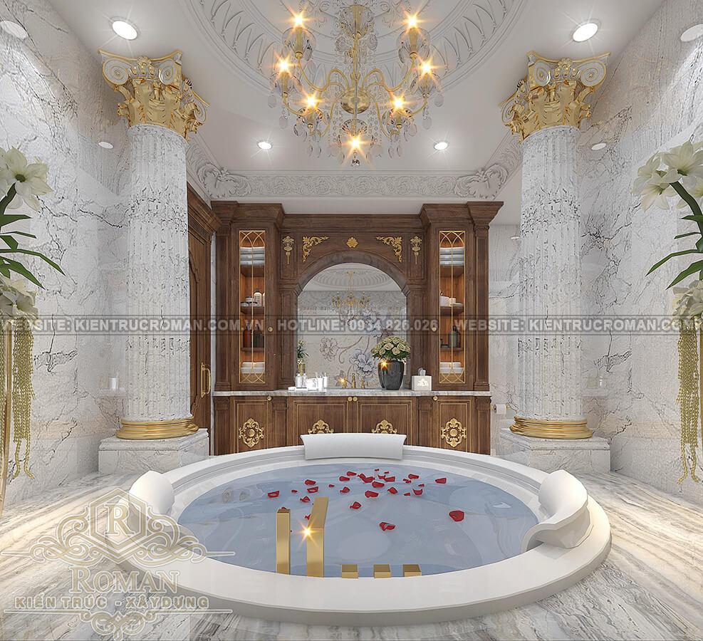 biệt thự mặt tiền 13m phòng tắm