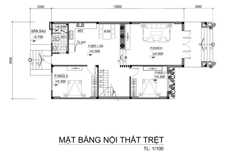biệt thự mini 2 tầng 110m2