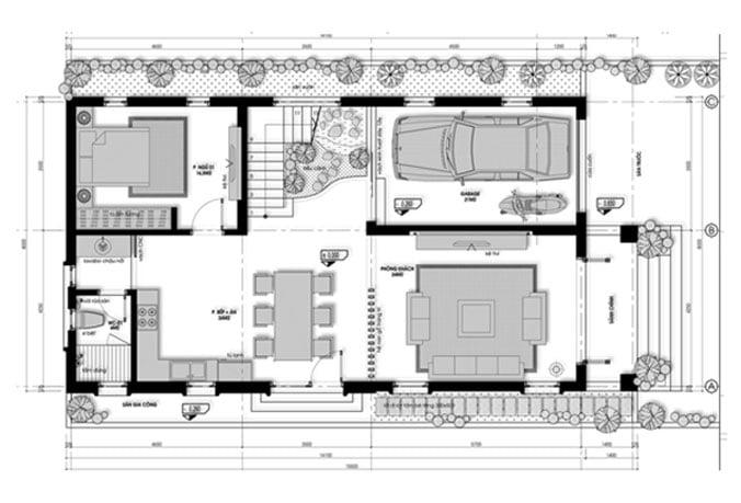 biệt thự mini 2 tầng 3 tỷ