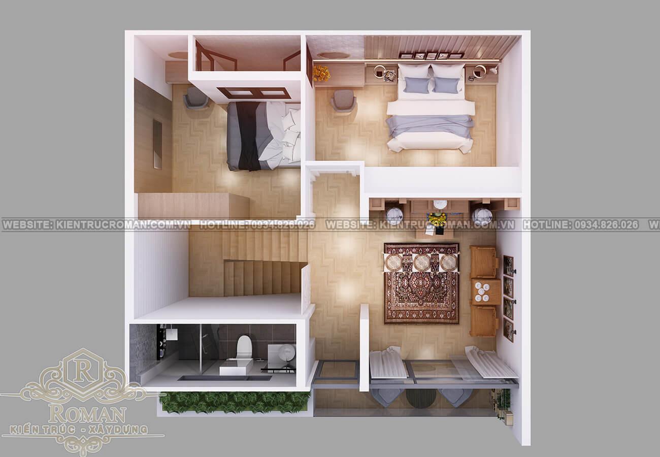 biệt thự mini 2 tầng đẹp