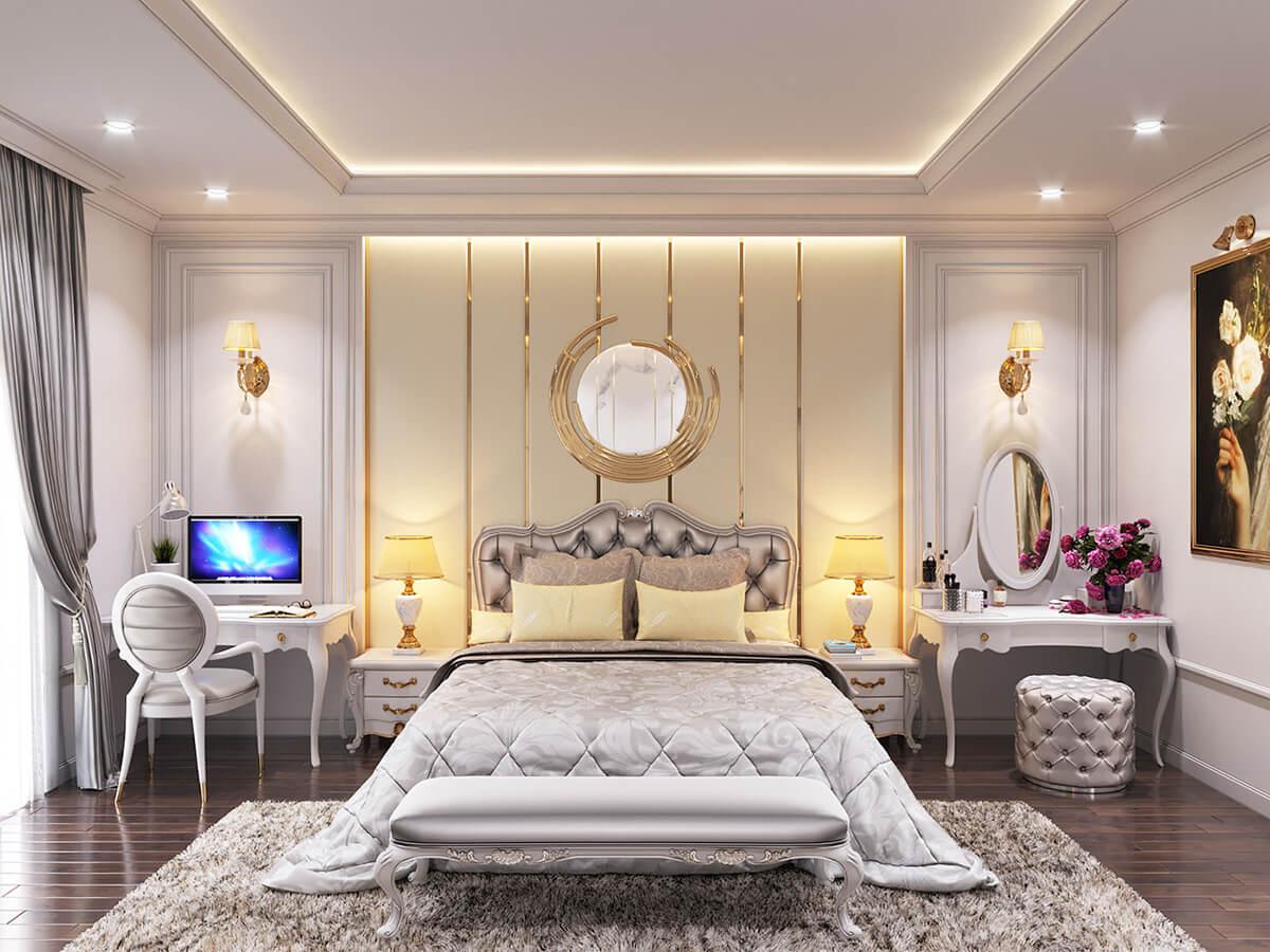 biệt thự một mặt tiền 7m phòng ngủ