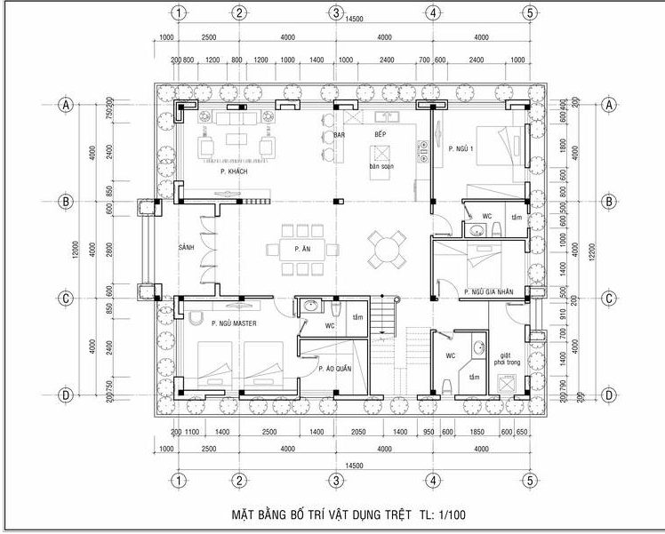 biệt thự nhà vườn 2 tầng mái thái hiện đại 4