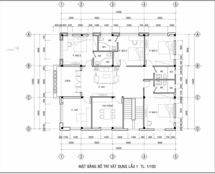 biệt thự nhà vườn 2 tầng mái thái hiện đại 5