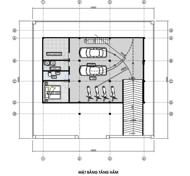 biệt thự pháp tân cổ điển 15x16m