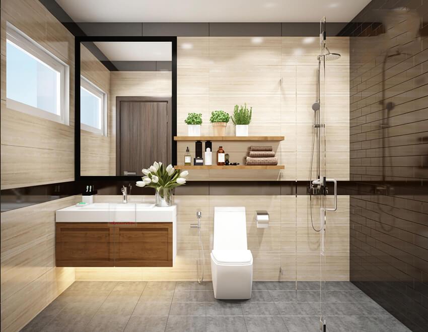 biệt thự phố 1 mặt tiền phòng tắm