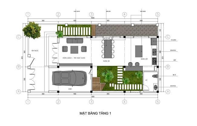 biệt thự phố 3 tầng 8x15 4