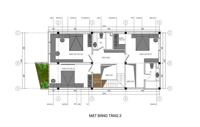 biệt thự phố 3 tầng 8x15 5
