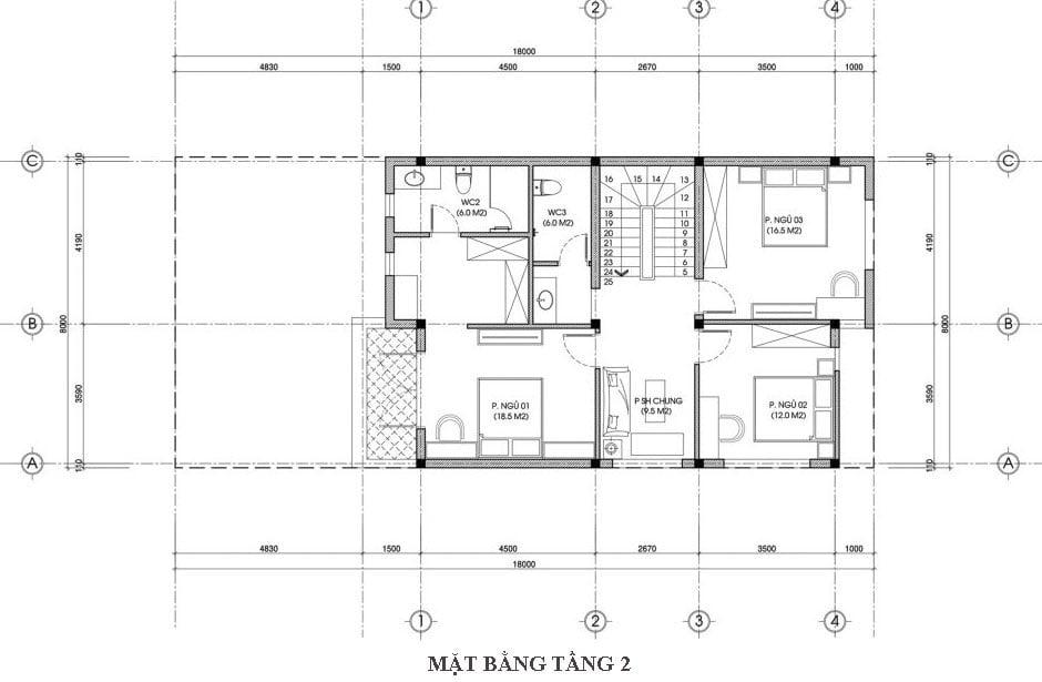 biệt thự phố 3 tầng mặt tiền 8m