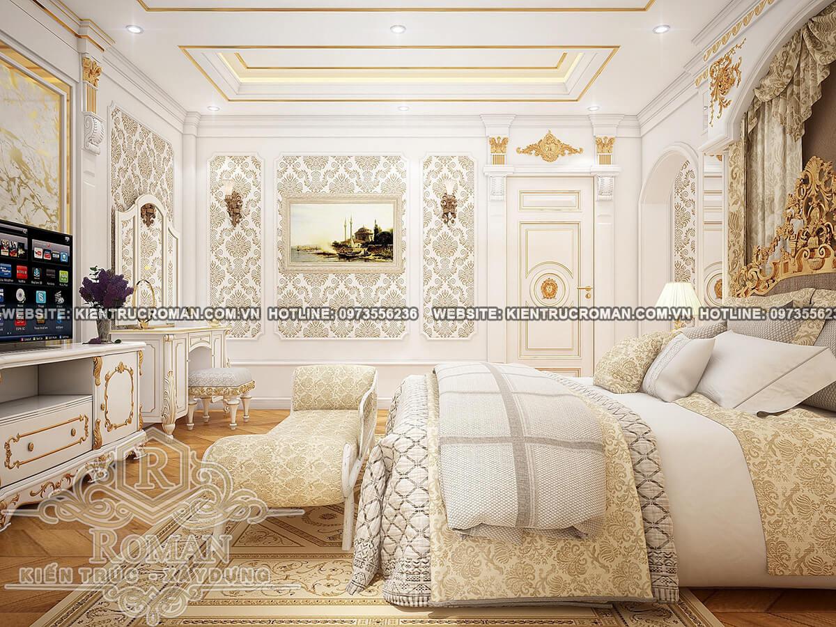 phòng ngủ master biệt thự phố đẹp