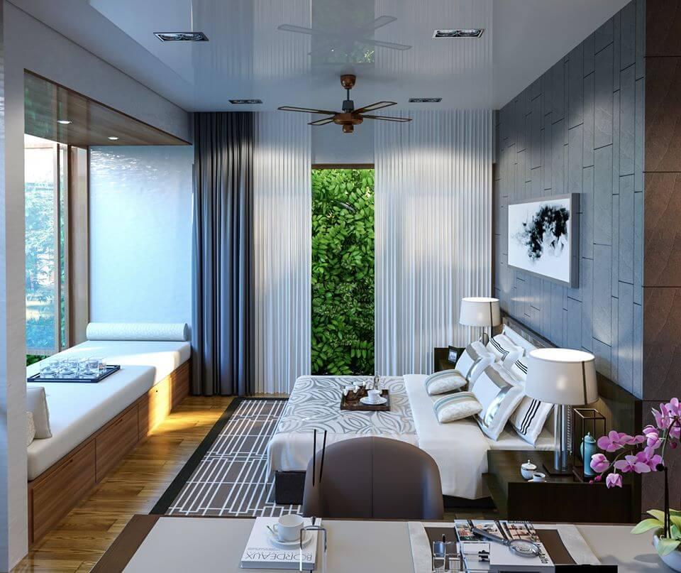 biệt thự phố hiện đại 8x16m phòng ngủ