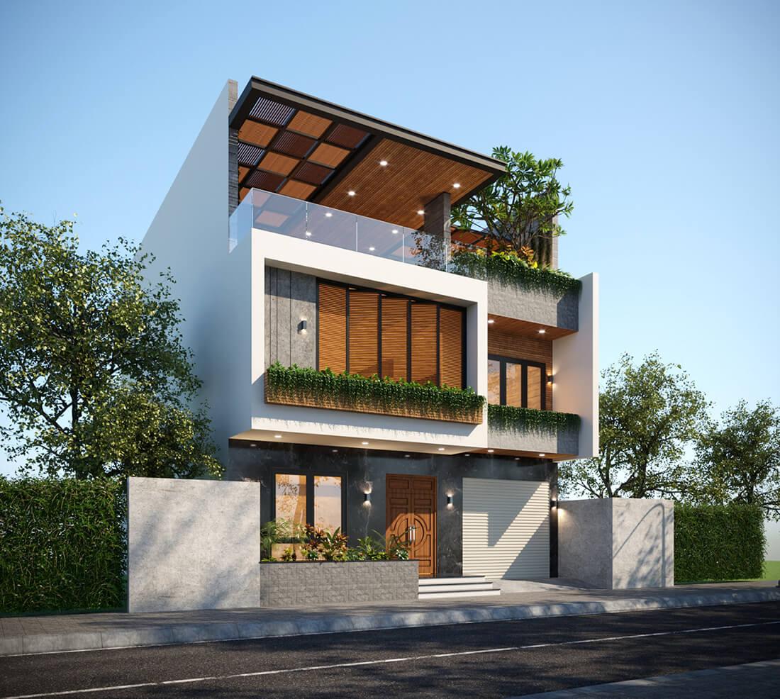 biệt thự phố hiện đại mặt tiền 10m