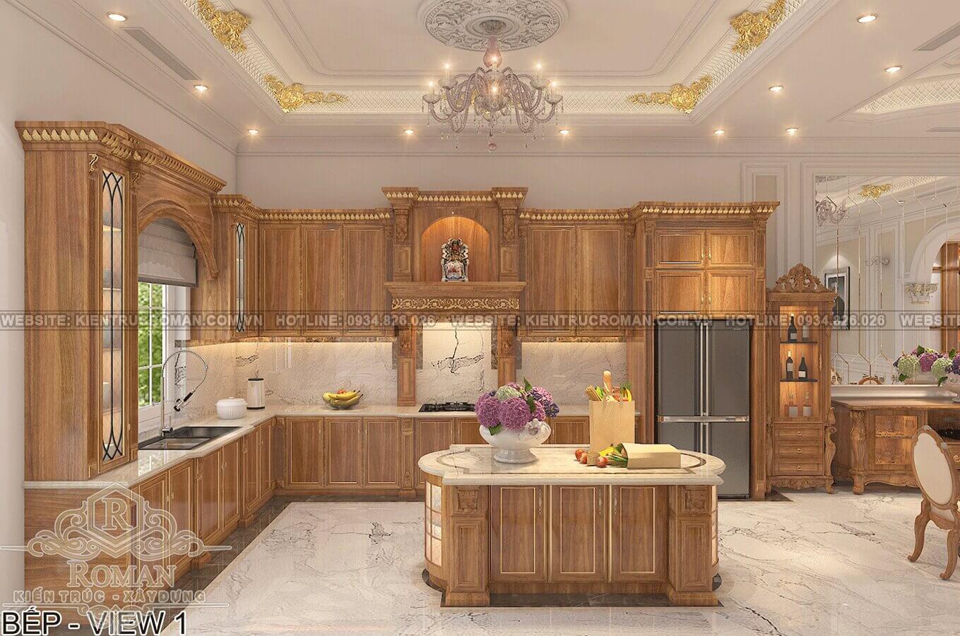 biệt thự phố mặt tiền 10m phòng bếp