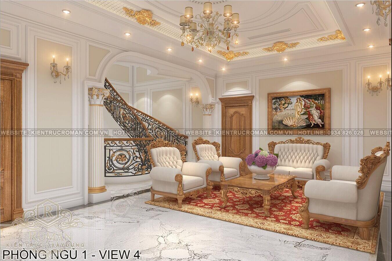 biệt thự phố mặt tiền 10m phòng khách