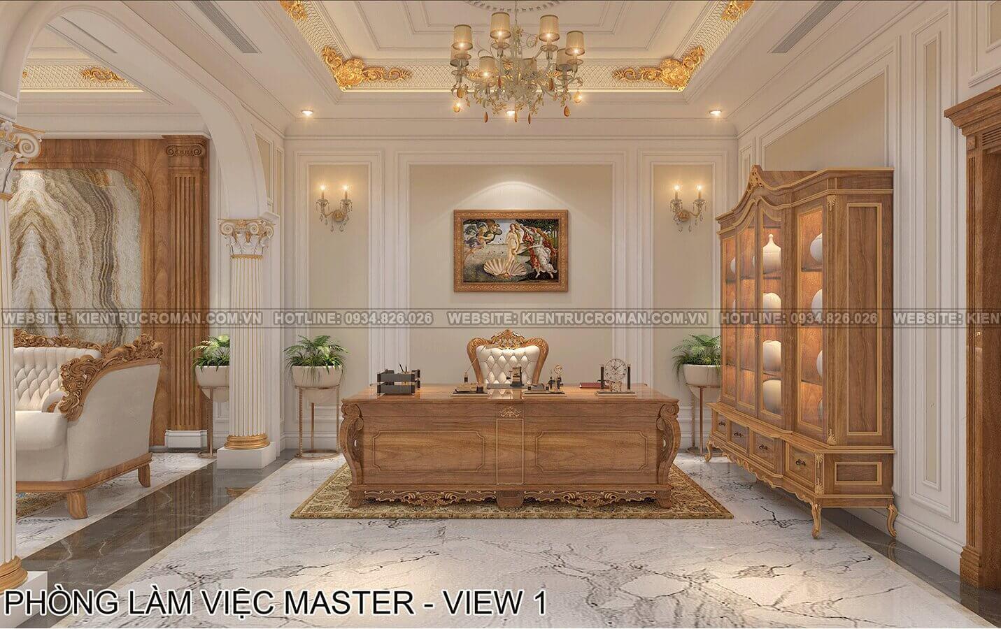 biệt thự phố mặt tiền 10m phòng làm việc master