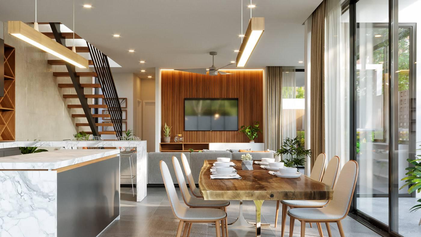 biệt thự 3 tầng hiện đại 25x20m 10