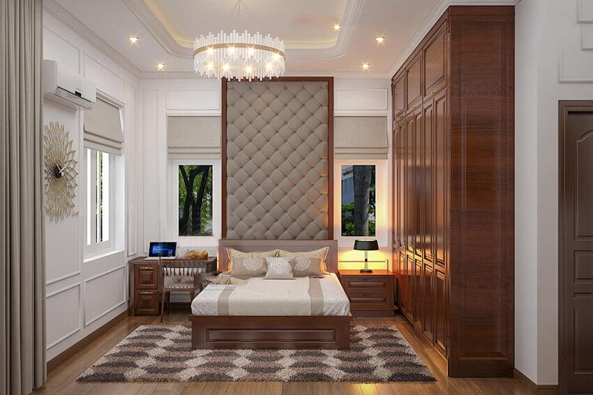 biệt thự phong cách Pháp 2 tầng phòng ngủ