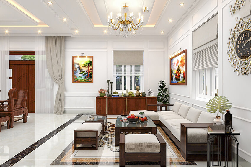 biệt thự phong cách Pháp 2 tầng