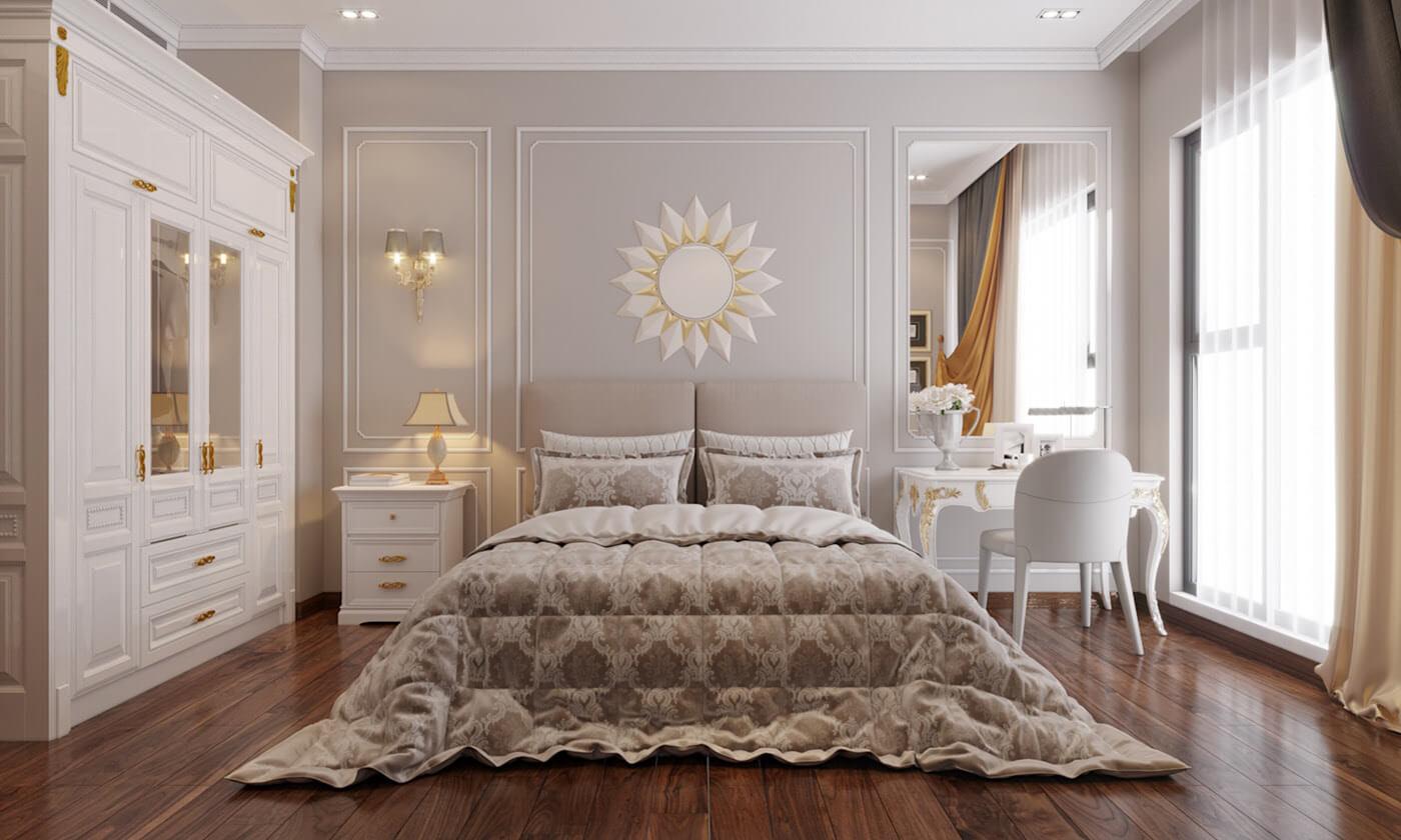 biệt thự tân cổ điển 11x12m phòng ngủ