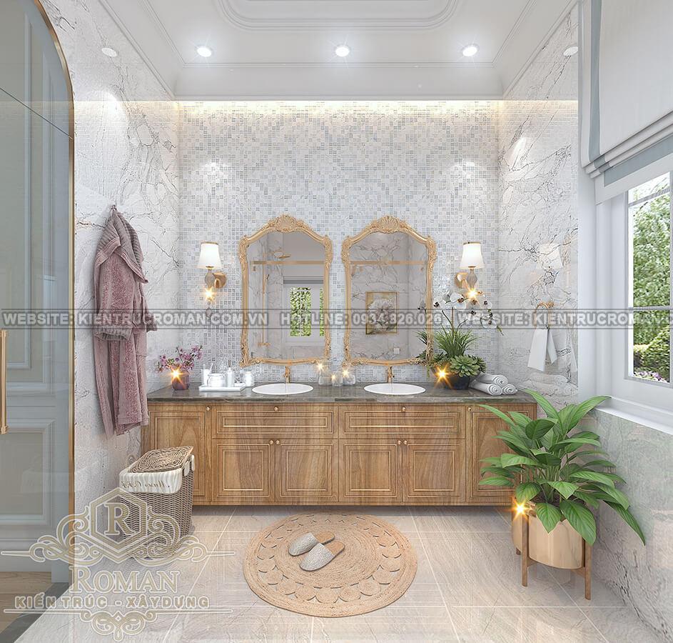 biệt thự tân cổ điển 12x16 phòng tắm