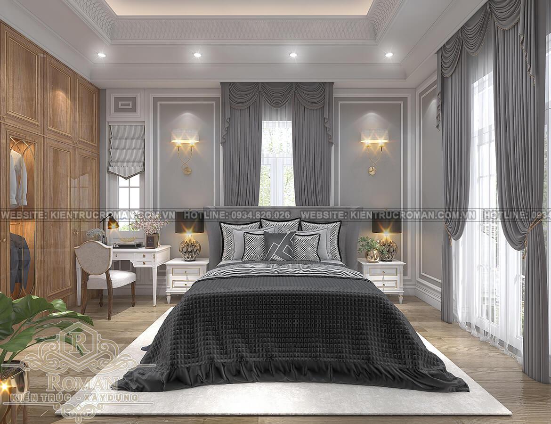 biệt thự tân cổ điển 12x16 phòng ngủ