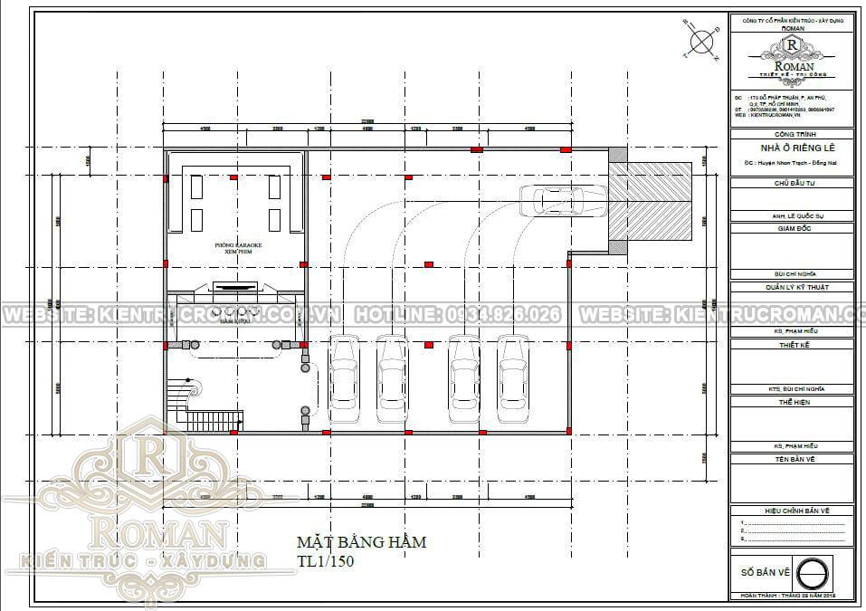 biệt thự tân cổ điển 14x22 bản vẽ