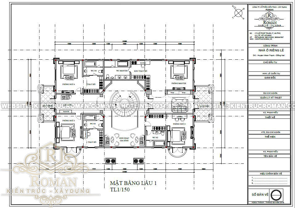 biệt thự tân cổ điển 14x22