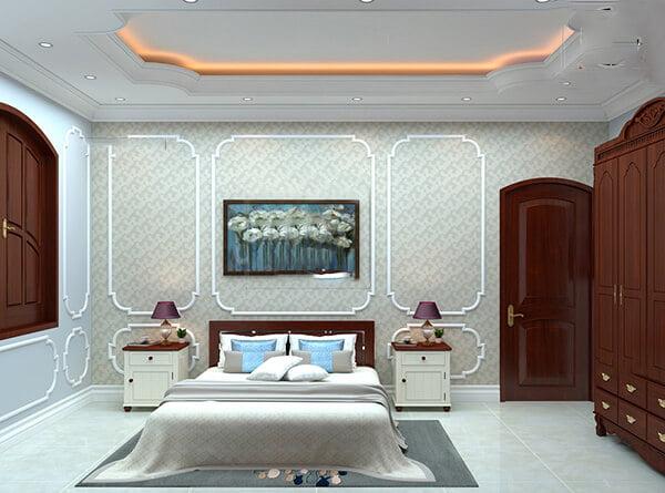biệt thự tân cổ điển 15x20m phòng ngủ