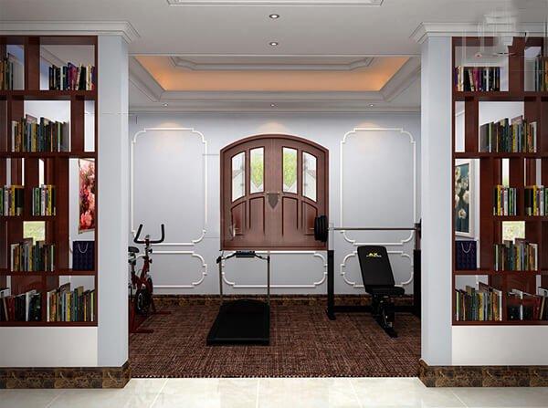 biệt thự tân cổ điển 15x20m phòng tập gym