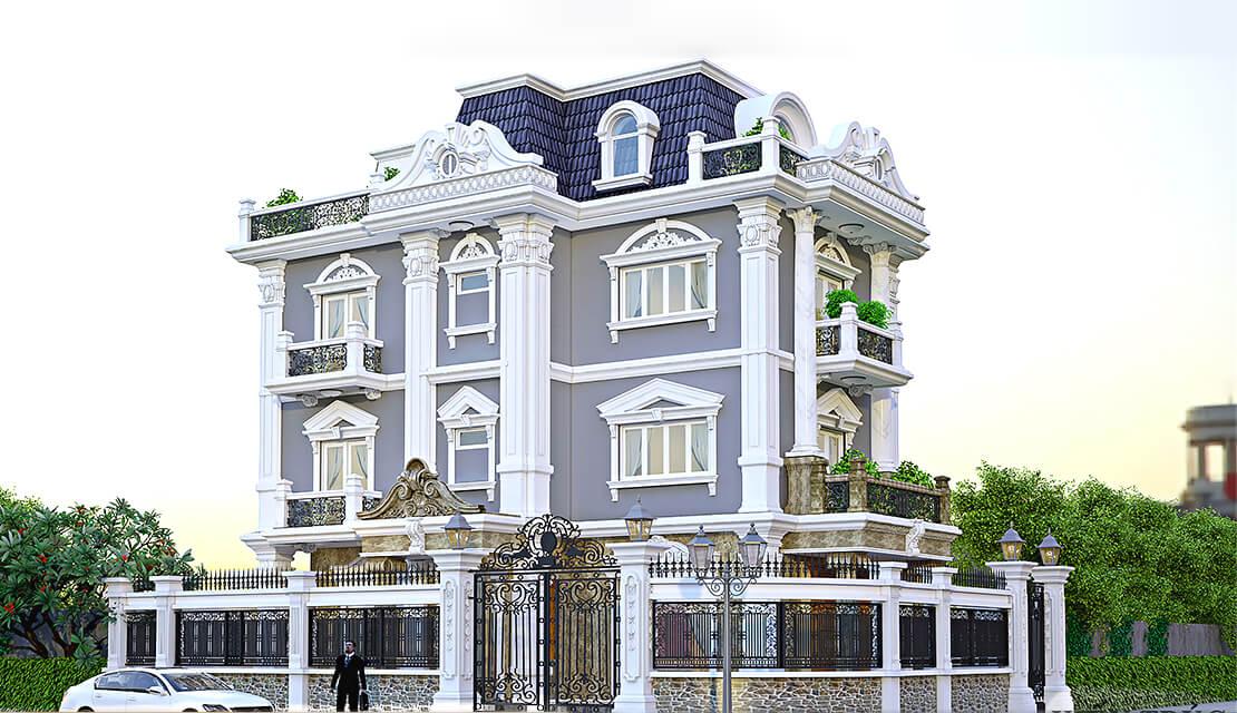 biệt thự tân cổ điển 15x20m
