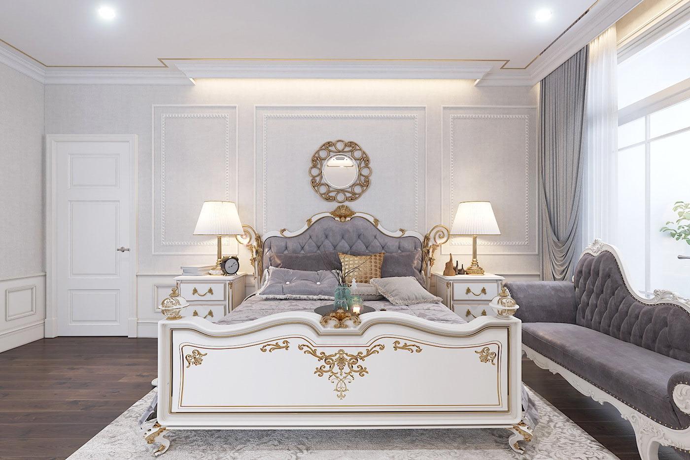 biệt thự tân cổ điển 17x17m phòng ngủ master
