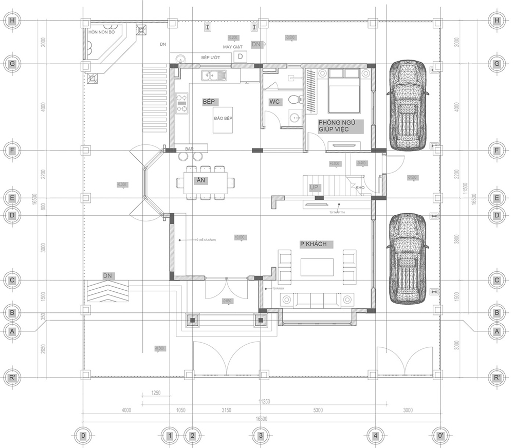 biệt thự tân cổ điển 17x17m