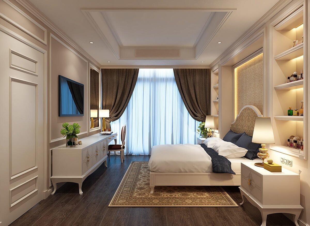 biệt thự tân cổ điển 18x25m phòng ngủ master