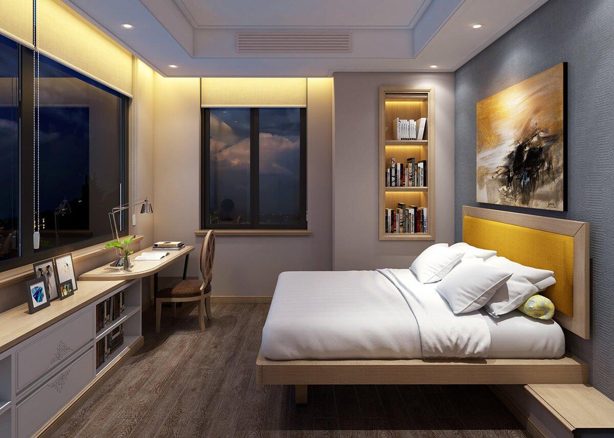 biệt thự tân cổ điển 18x25m phòng ngủ