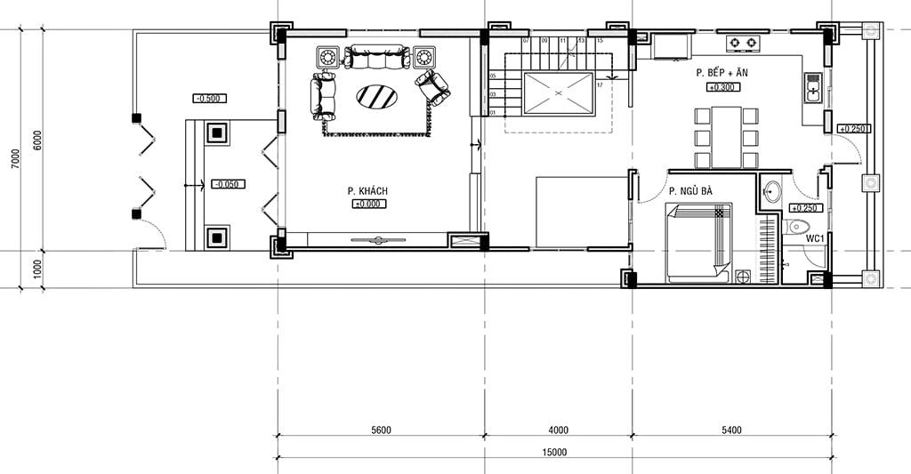 biệt thự tân cổ điển 2 tầng 7x15m