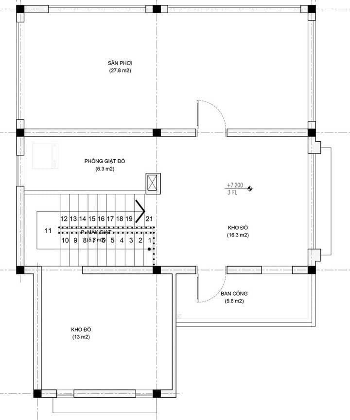 biệt thự tân cổ điển 3 tầng