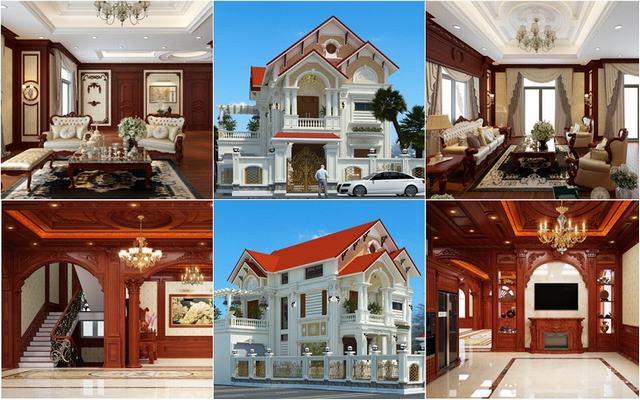 biệt thự tân cổ điển 3 tầng đẹp 1