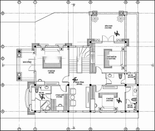 biệt thự tân cổ điển 3 tầng đẹp 5