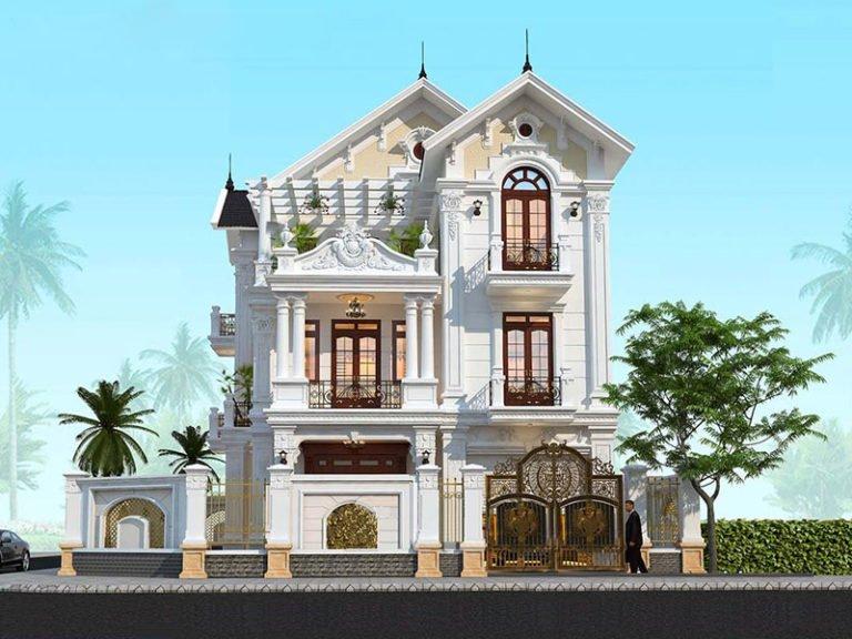biệt thự tân cổ điển 3 tầng mái 1thái