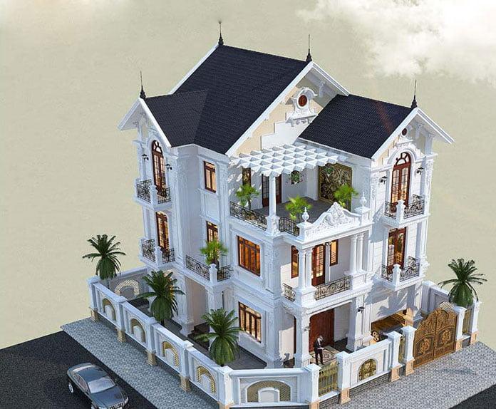 biệt thự tân cổ điển 3 tầng mái thái 2