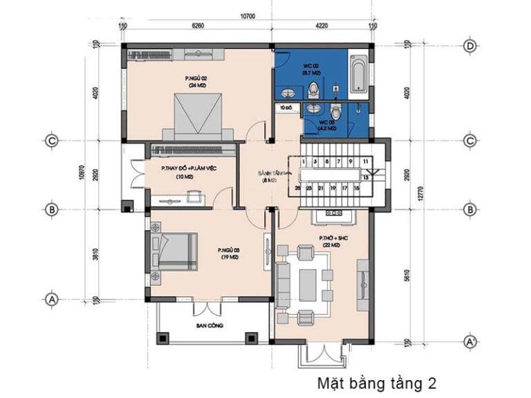 biệt thự tân cổ điển 3 tầng mái thái 6